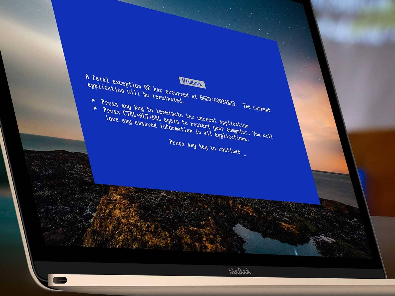 dépannage informatique écran bleu